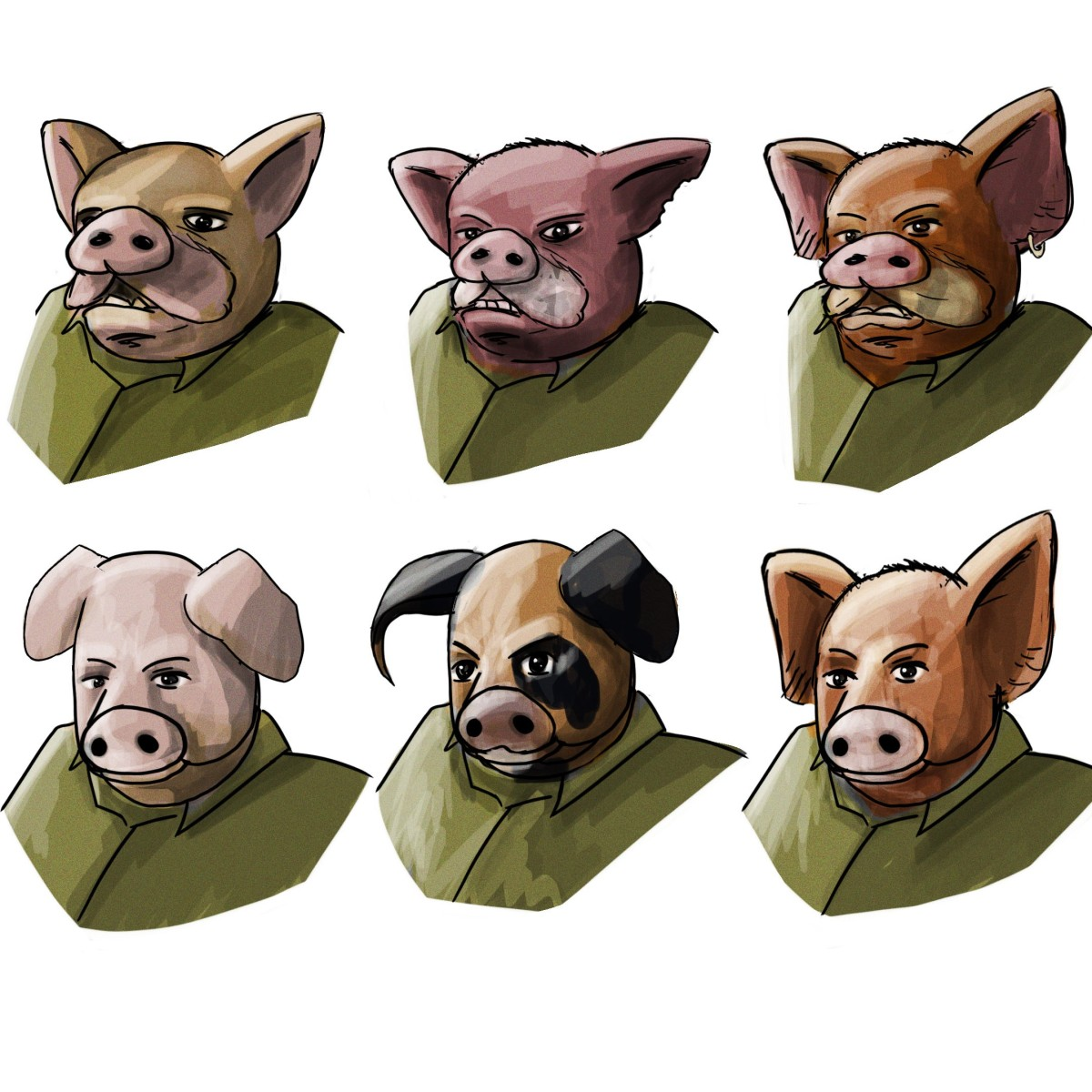 Hogs of War (2000) Reboot: Characters and Team Design